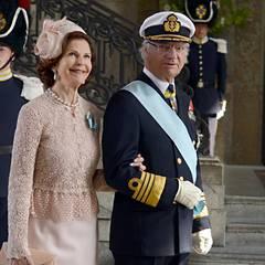 Die stolzen Großeltern: Königin Silvia und König Carl XVI. Gustav