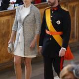 Guillaume von Luxemburg und Gräfin Stephanie de Lannoy sind ebenfalls Gäste der Schweden.