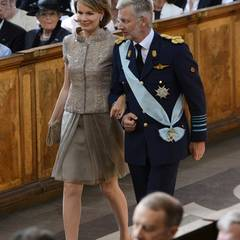 Auch das belgische Kronprinzenpaar ist anwesend.