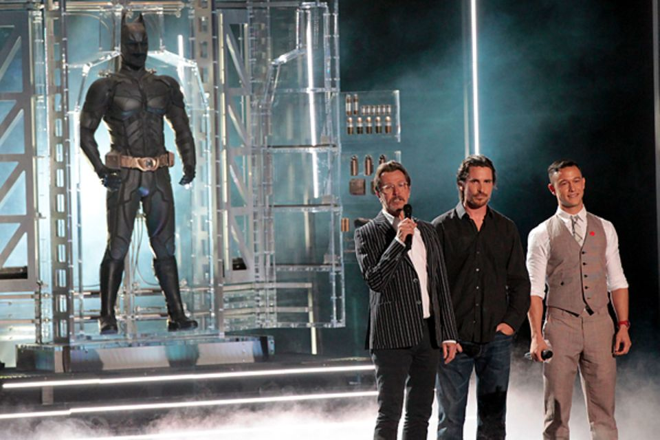 MTV Movie Awards 2012: Gary Oldman, Christian Bale und Joseph Gordon-Levitt