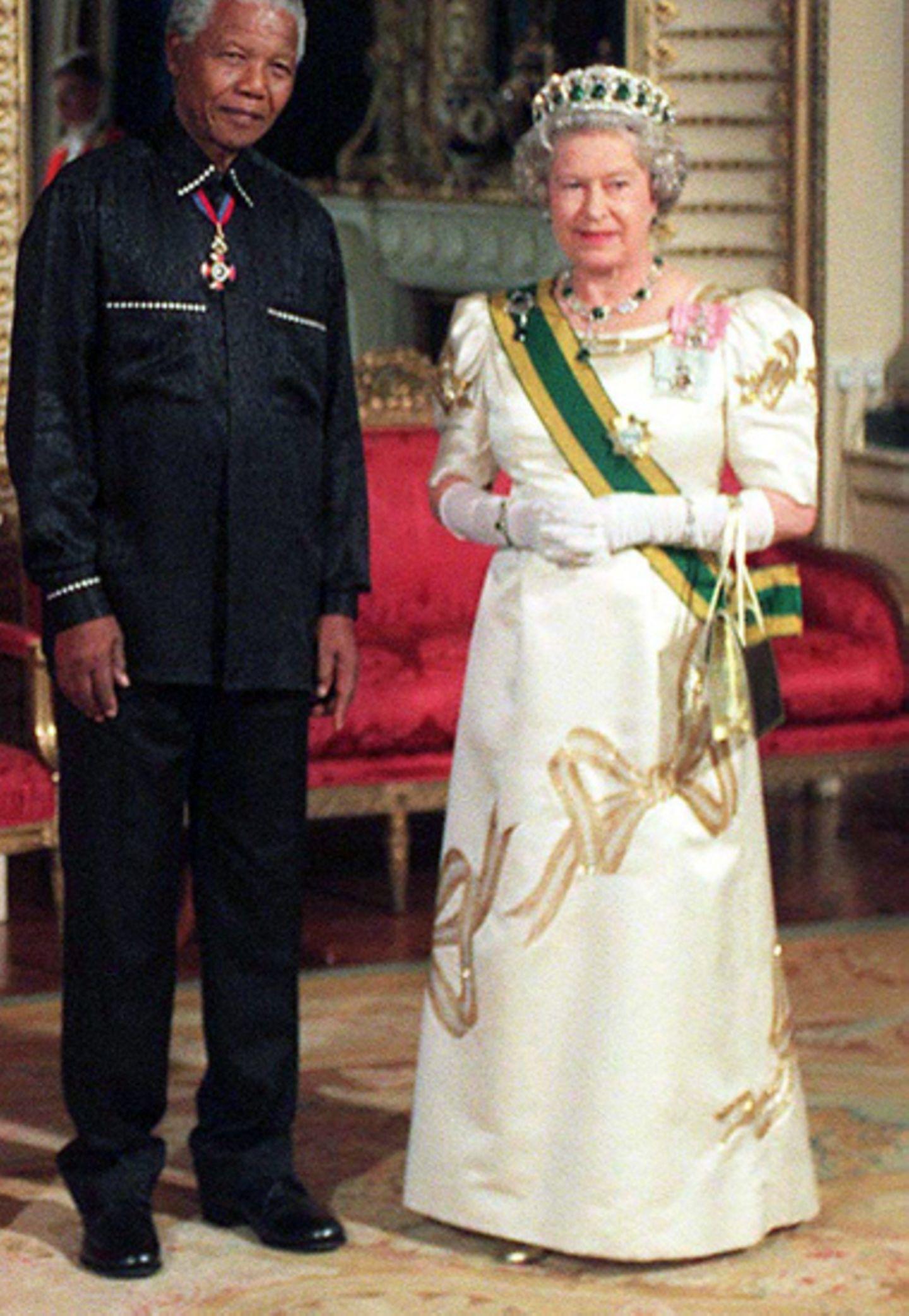 1996: Schleifen mit Nelson Mandela
