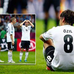 Das deutsche Team muss sich der Mannschaft aus Italien geschlagen geben. Miroslav Klose, Bastian Schweinsteiger, Philipp Lahm un
