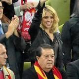 Sängerin Shakira ist stolz auf ihren Freund Gerard Piqué, der mit der spanischen Mannschaft einen 4:0-Sieg gegen die Iren feiert