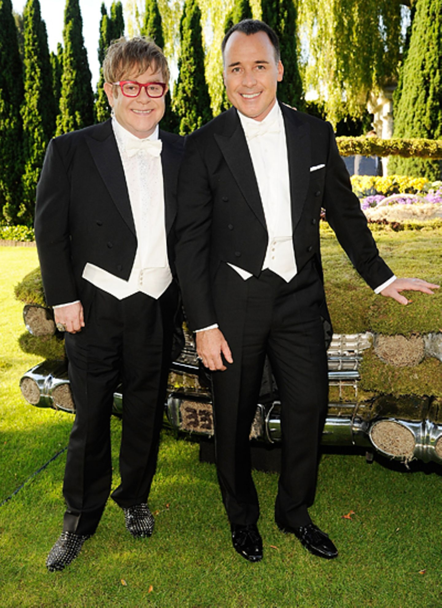 White Tie & Tiara Ball 2012: Elton John und David Furnish