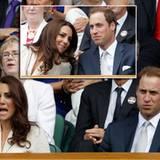 Royales Mitfiebern: Herzogin Catherine und Prinz William schauen sich das Viertelfinale der Herren auf dem Center Court an.