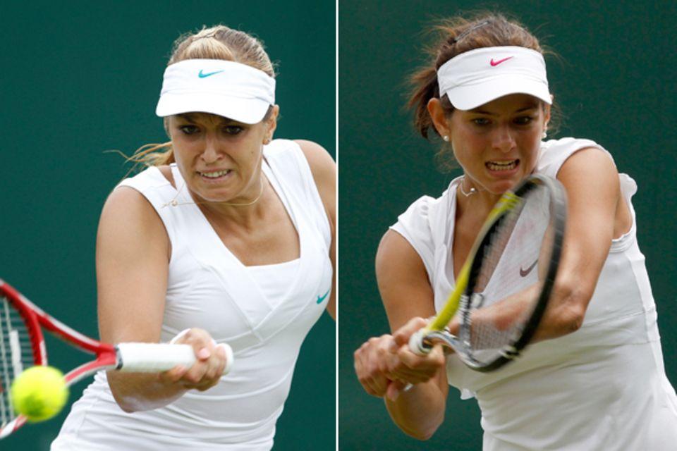 Nach ihren jeweils Auftritten im Turnier können sich die beiden deutschen Tennisdamen Sabine Lisicki und Julia Görges über den E