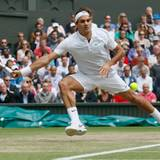 Der Schweizer Roger Federer spielt im Viertelfinale gegen den Russen Mikhail Youzhny.