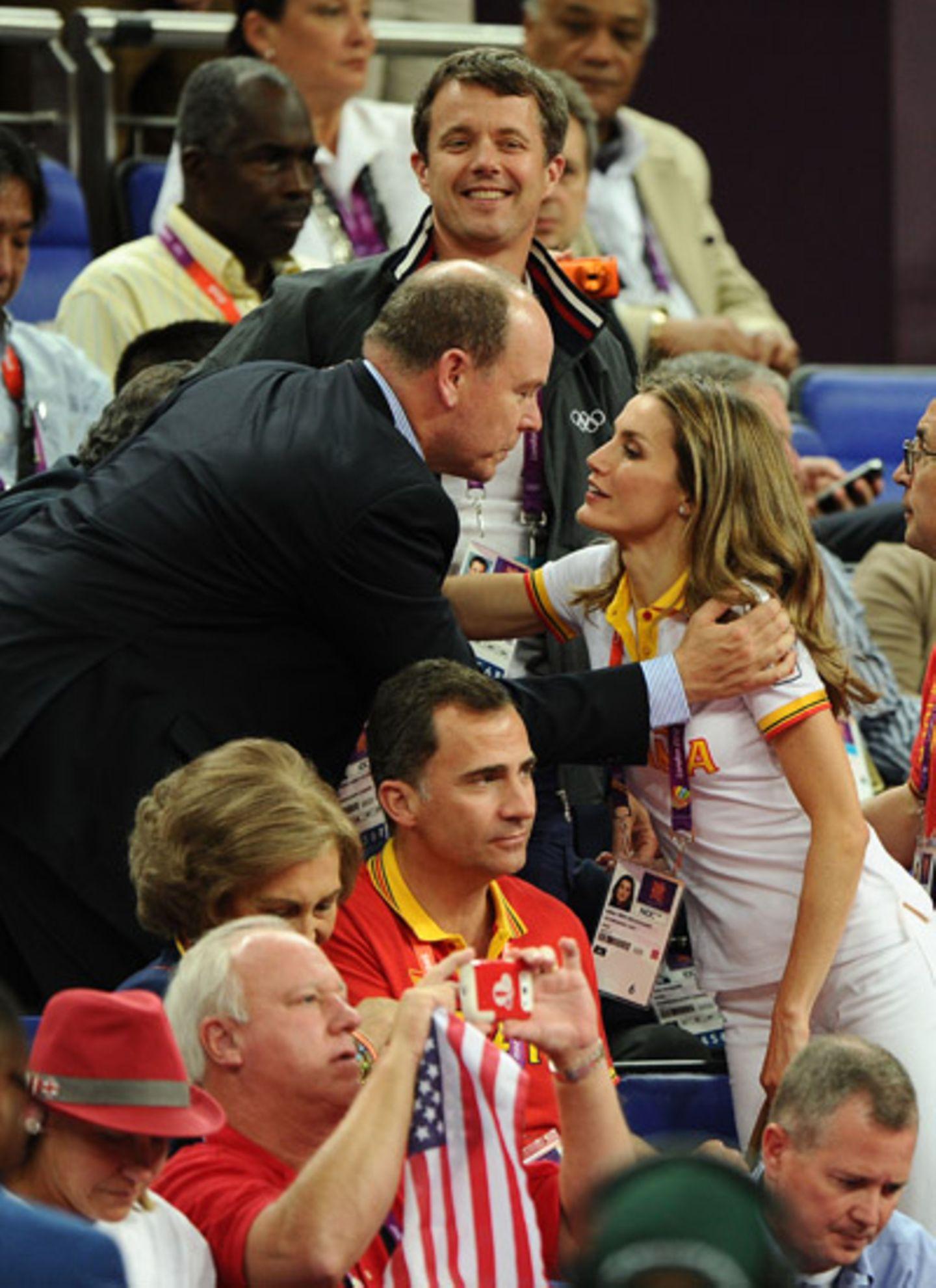 Fürst Albert, Prinz Frederik von Dänemark sowie Königin Sofia, Prinz Felipe und Prinzessin Letizia von Spanien freuen sich auf d