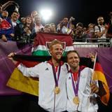 9.August 2912: Die Sensation ist perfekt: Die Deutschen Jonas Reckermann und Julius Brink schlagen die Weltmeister aus Brasilien