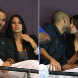 Der französische Nationalbasketballer Tony Parker guckt sich mit seiner neuen Freundin ein Handballspiel an.