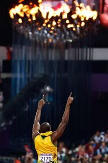 8. August 2012: Usain Bolt ist der einzige Sprinter, der bei zwei aufeinanderfolgenden olympischen Spielen die Goldmedaille über