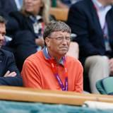 """Der """"Microsoft""""-Boss Bill Gates interessiert sich für olympisches Tennis. Ob sein Favorit gerade verliert?"""
