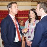 """Prinz Frederik von Dänemark ist auf dem Empfang des """"Internationalen Olympischen Komitees"""" im Buckingham Palast in London."""