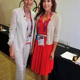 Fürstin Charléne von Monaco und Prinzessin Mary von Dänemark treffen sich vor der Eröffnungszeremonie in London.