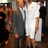 Jorge Gonzalez hat seinen Papa Miguel mit zum Fashion Brunch gebracht.