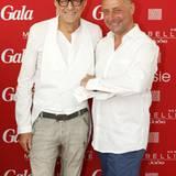 Ralf Mock (Thomas Sabo) und GALA-Chefredakteur Peter Lewandowski
