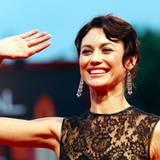 """Olga Kurylenko strahlt auf der Premiere von """"To the Wonder""""."""