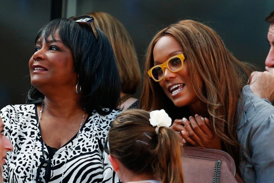 Tyra Banks hat Serena Williams die Daumen gedrückt.