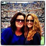Rosie O'Donnell und ihre Ehefrau Michelle Rounds freuen sich sehr, bei den US Open im Publikum sitzen zu dürfen. Darauf weisen z