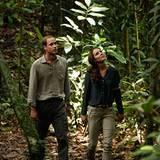 Interessiert geht das Herzogpaar durch den Regenwald von Borneo.