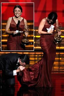"""Primetime Emmy Awards: Julia Louis-Dreyfus wird als """"Beste Hauptdarstellerin in einer Comedy-Serie"""" für ihre Rolle in """"Veep"""" aug"""