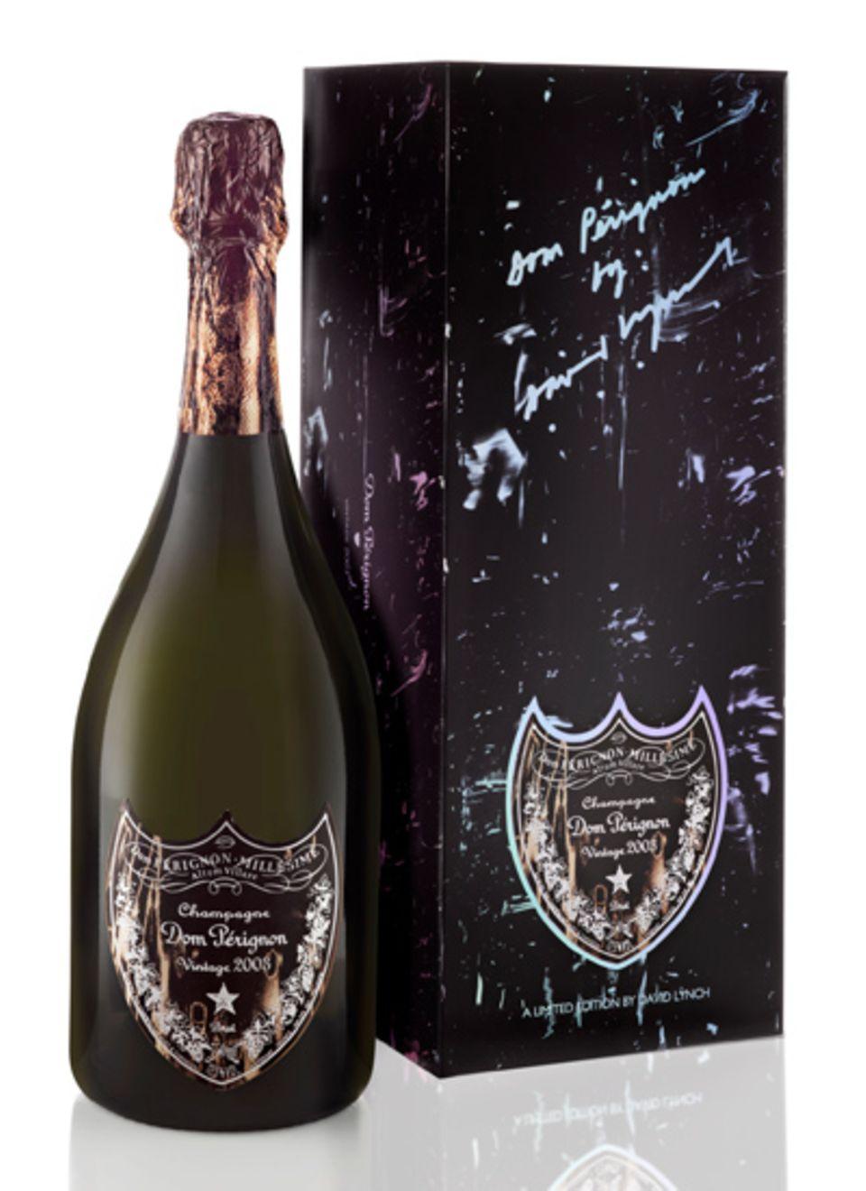 Special Edition Champagner, designt von David Lynch, Dom Pérignon Vintage 2003, ca. 150 Euro oder Dom Pérignon Vintage Rosé 2000