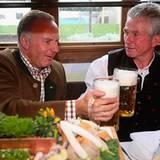 Der Vorstandvorsitzende des Clubs Karl-Heinz Rummenigge und Trainer Jupp Heynckes