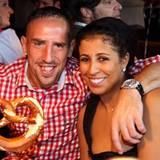Franck Ribery und seine Frau Wahiba
