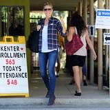 Heidi Klum hat in Brentwood ihre Stimme abgegeben.