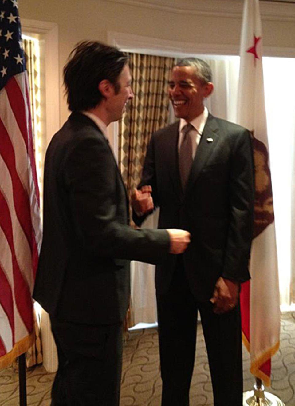Zach Braff ist bekennender Anhänger der amerikanischen Demokraten und ein Fan des Präsidenten.