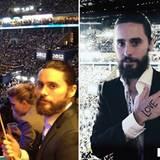 Auch Jared Leto unterstützt Barack Obama. Der Sänger/Schauspieler twittert diese beiden Fotos, wobei er viel Wert darauf legt, d
