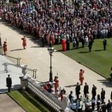 Juni 2014  Prinz Philip (l.) feiert am 10. Juni seinen 93. Geburtstag. Auf dem Anwesen des Buckingham Palast findet eine von der Queen initiierte Gartenparty ihrem Gatten zu Ehren statt. Zahlreiche Gratulanten sind der Einladung gefolgt.