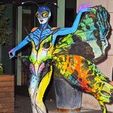 2014: Heidi Klum hat sich dieses Jahr in einen bunten Schmetterling verwandelt.