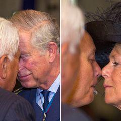Auf der letzten Station ihrer Pazifik-Tour müssen sich Charles und Camilla sehr gewöhnungsbedürftig begrüßen lassen.