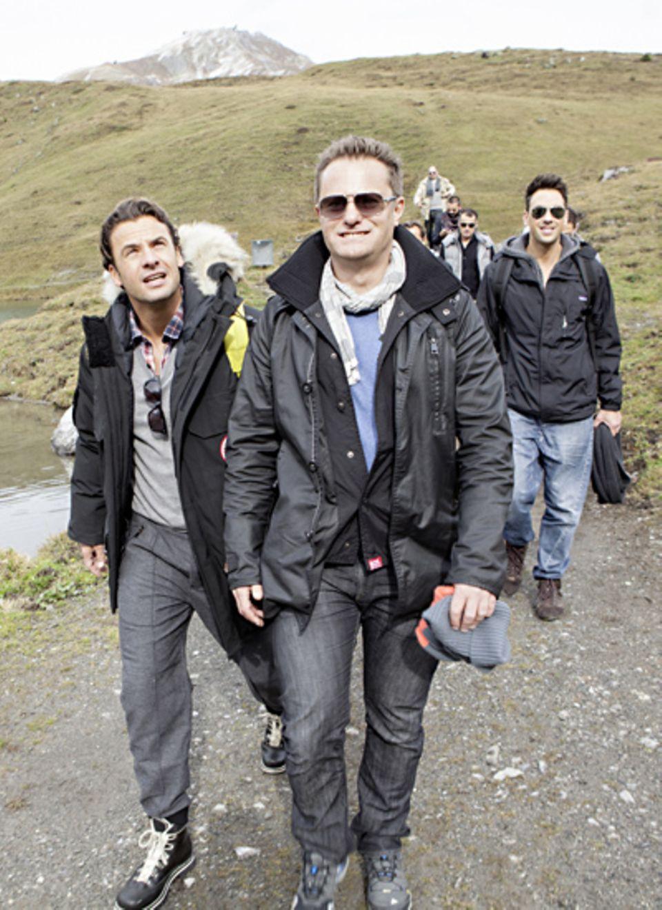 Noch nicht aus der Puste: Stephan Luca und Jeremy Bauer (Reebok)
