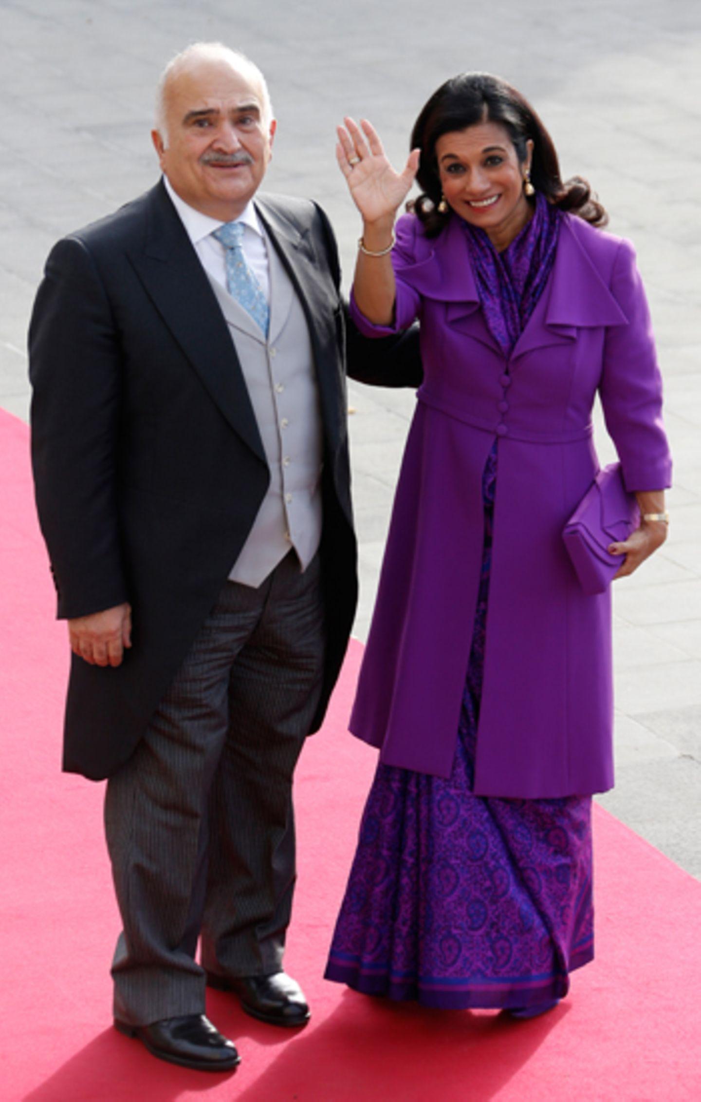 Prinz Hassan Bin Talal und Prinzessin Sarvath El Hassan bin Talal von Jordanien