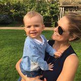 Prinzessin Madeleine + Christopher O'Neill : 8. Mai 2016 Zu seinem ersten Muttertag postet Prinzessin Madeleine von Schweden ein niedliches Foto mit ihrem Sohn Nicolas.