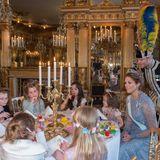 """22. Februar 2016  Prinzessin Madeleine hat ein großes Herz: Sie hat Kinder von """"Min Stora Dag"""" (Mein besonderer Tag) ins königliche Schloss eingeladen."""