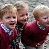 Prinzessin Elisabeth, künftige Königin der Belgier, hat gut lachen mit ihren jüngeren Brüdern Gabriel (links) und Emmanuel.