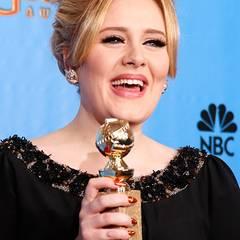 """Golden Globes: Adele gewinnt mit ihrem Song für den Jams Bond Film """"Skyfall"""" eine der begehrten Trophäen."""