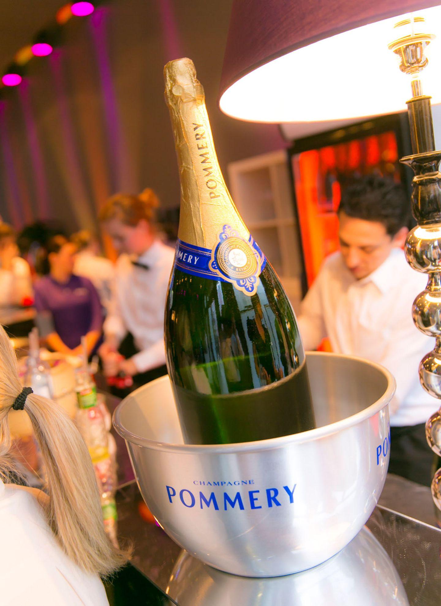 GALA-Event: Der Champagner von Pommery wird eiskalt serviert.