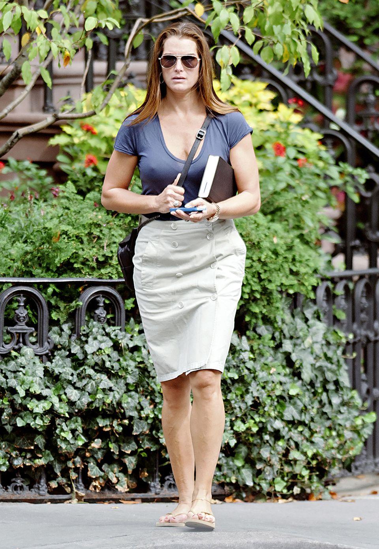 Die legere Variante des Business-Looks sieht an Brooke Shields einfach klasse aus.