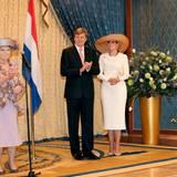Königin Beatrix besucht mit Sohn Willem-Alexander und Schwiegertochter Máxima die kleine niederländische Gemeinde in Badar Seri Begawan im Sultanat Brunei.