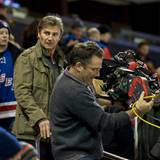"21. November 2013: Liam Neeson dreht im New Yorker Madison Square Garden das Drama ""Run All Night""."