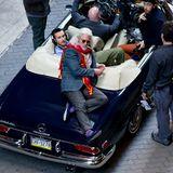 """21. Oktober 2013: Richard Gere steht in den Straßen von Philadelphia für den Film """"Franny"""" vor der Kamera."""