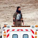 """23. Oktober 2013: Christian Bale dreht unter Regisseur Ridley Scott das biblische Epos """"Exodus"""" in Spanien."""