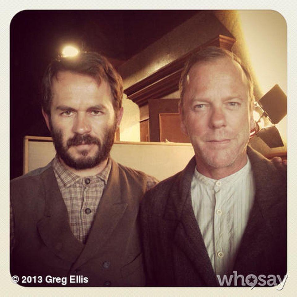 """23. September 2013: Greg Ellis gewährt einen Blick hinter die Kulissen des Films """"Forsaken"""", den er gerade mit Kiefer Sutherland dreht."""