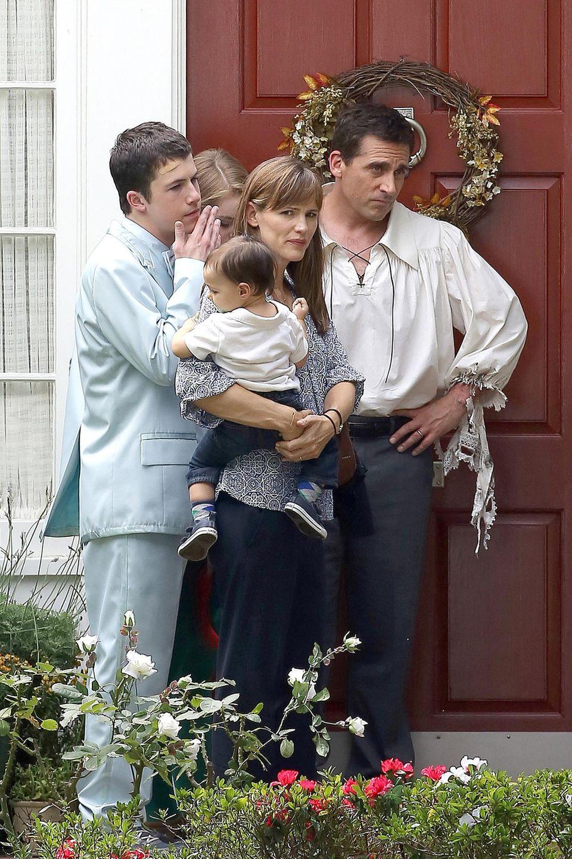 """5. September 2013: Jennifer Garner und Steve Carell spielen in """"Alexander And The Terrible, Horrible, No Good, Very Bad Day"""" ein kinderreiches Ehepaar."""