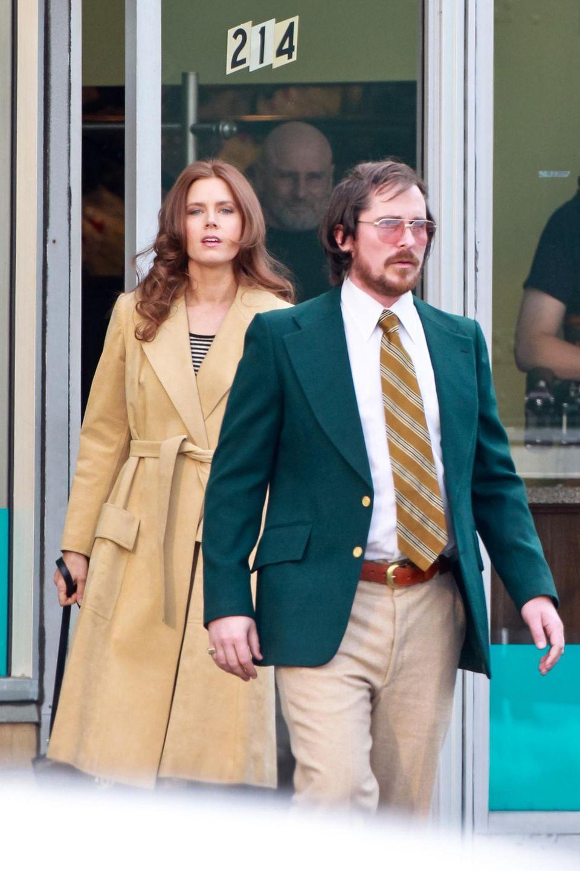 """21. März 2013: Amy Adams und Christian Bale stehen in Boston für ein noch unbekanntes Projekt von """"Silver Linings Playbook""""-Autor David O. Russell vor der Kamera."""