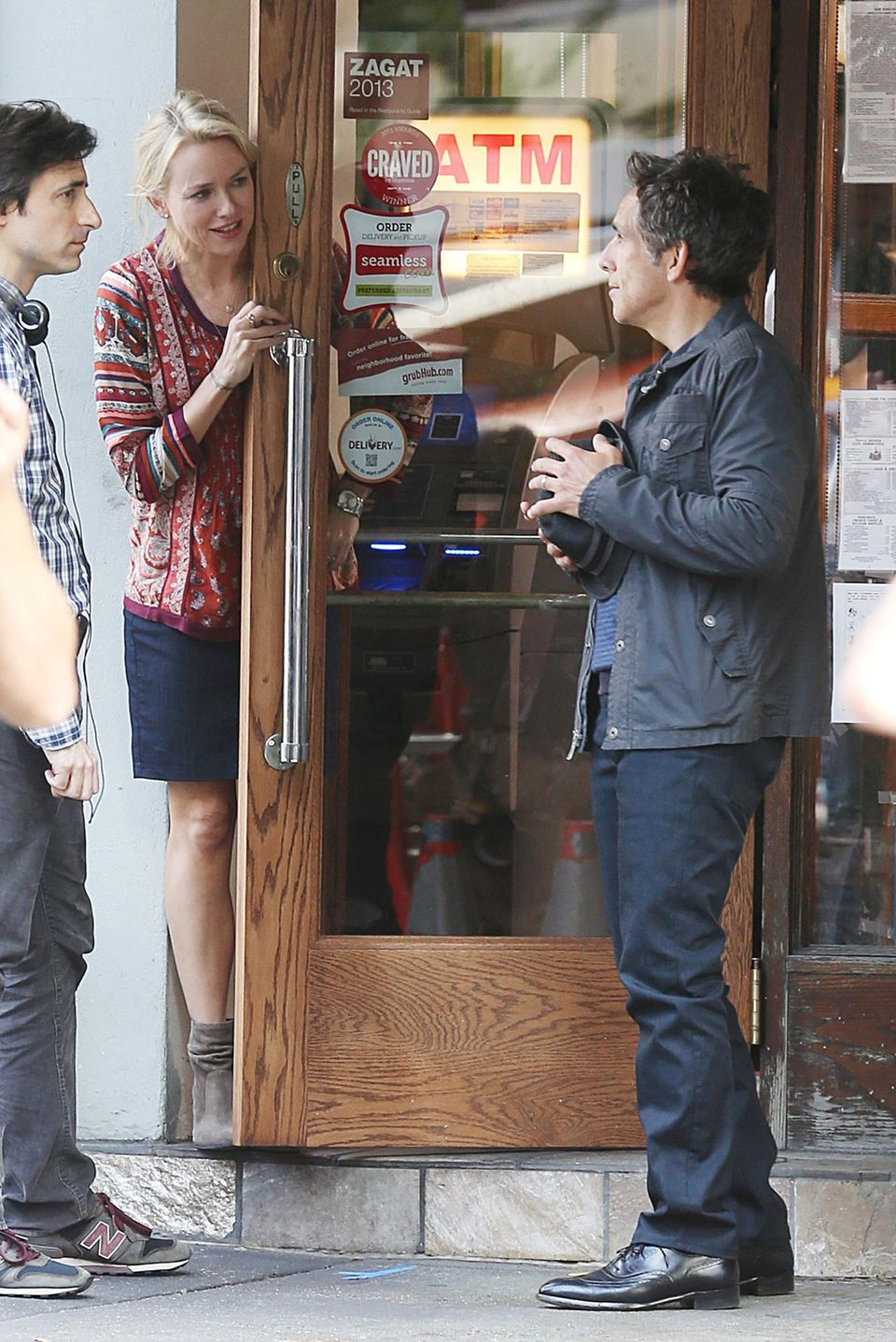 "30. September 2013: Naomi Watts und Ben Stiller drehen den Film ""While We're Young"" in New York."